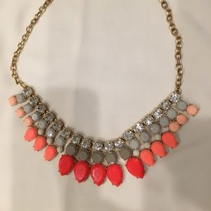 Jcrew statement necklace pink/grey